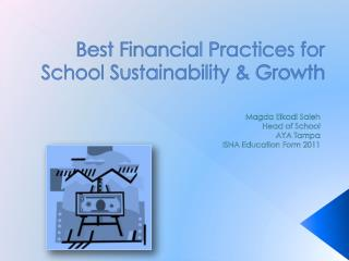 Best Financial Practices for School Sustainability & Growth