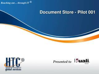 Document Store - Pilot 001