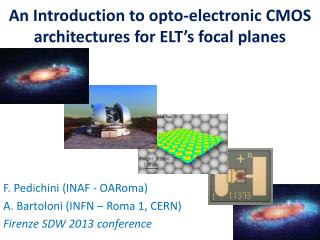 An  Introduction  to opto- electronic  CMOS  architectures  for  ELT's focal planes