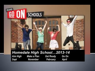 Homedale High School…2013-14 Aim High         Make a Plan          Get Ready          Go On