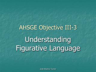 AHSGE Objective III-3