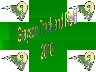 Grayson Track and Field 2010