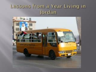Lessons from a Year Living in Jordan