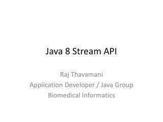 Java 8 Stream API