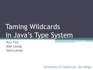 Taming Wildcards in Java's Type System