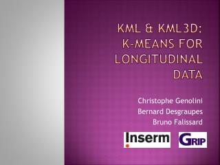 KmL  & KML3D :  K- Means FOr  Longitudinal Data