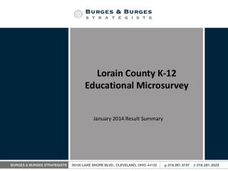 Lorain County K-12 Educational Microsurvey