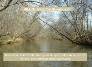 2013 Lake Greenwood Blueway Event