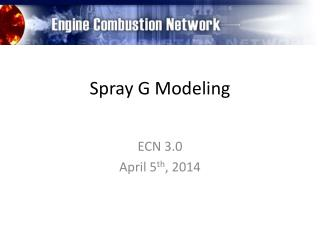 Spray G Modeling