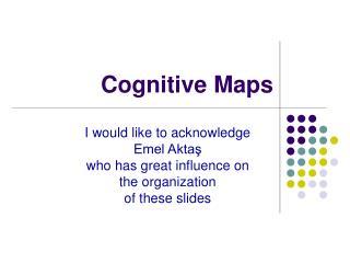 C ognitive Maps