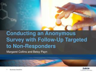 Conducting an Anonymous Survey with Follow-Up Targeted to Non-Responders