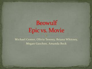 Beowulf Epic vs. Movie