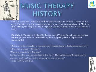 MUSIC THERAPY HISTORY