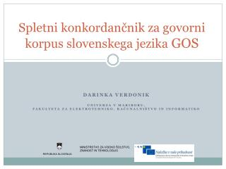 Spletni konkordančnik za govorni korpus slovenskega jezika  GOS