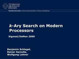k - Ary  Search on Modern Processors