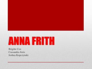 ANNA FRITH