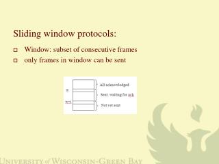Sliding window protocols: