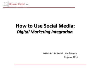How to Use Social Media: Digital Marketing Integration