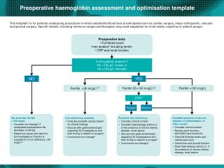 Is the patient anaemic? Hb <130 g/L (male) or Hb <120 g/L (female)
