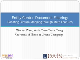 Entity-Centric Document Filtering: Boosting Feature Mapping through Meta-Features