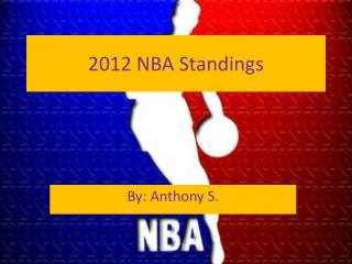 2012 NBA Standings