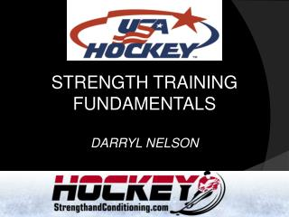 STRENGTH TRAINING FUNDAMENTALS  DARRYL NELSON