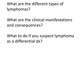 Lymphoid  Neoplasms