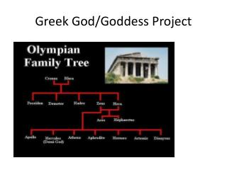 Greek God/Goddess Project