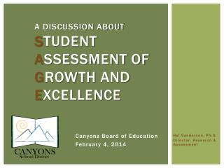 A Discussion About S tudent  A ssessment of  G rowth  and E xcellence
