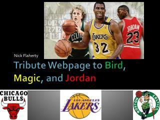 Tribute Webpage to  Bird ,  Magic , and  Jordan