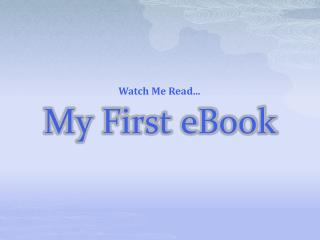 My First eBook