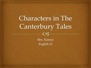 Characters in The Canterbury Tales