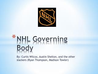 NHL Governing Body