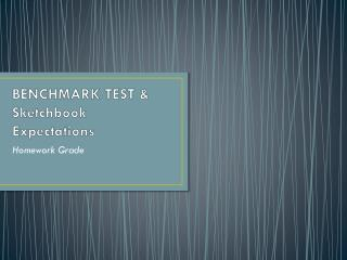 BENCHMARK TEST & Sketchbook Expectations