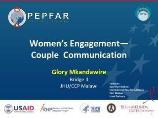 Women's Engagement— Couple  Communication