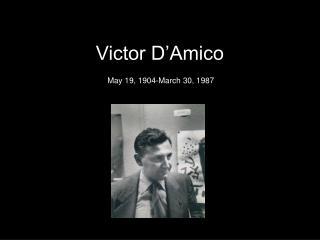 Victor D�Amico