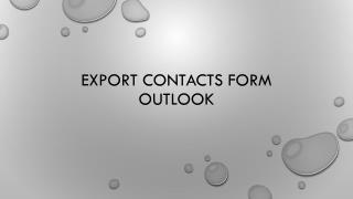 Export Contacts form Outlook