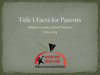 Title I Facts for Parents