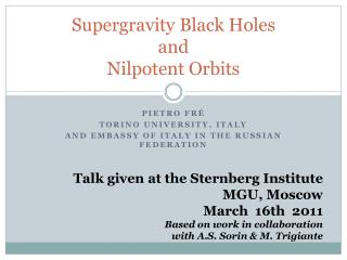 Supergravity Black Holes and  Nilpotent Orbits