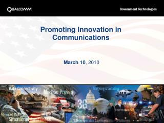 Promoting Innovation in Communications