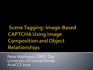 Scene Tagging: Image-Based CAPTCHA Using Image Composition and Object Relationships