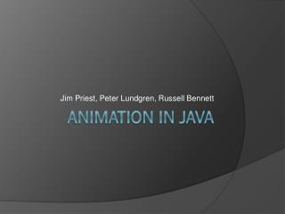 Animation in java