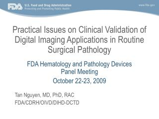 Practical Issues on Clinical Validation of Digital Imaging ...