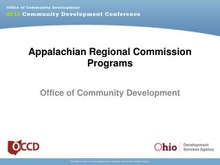 Appalachian Regional Commission Programs