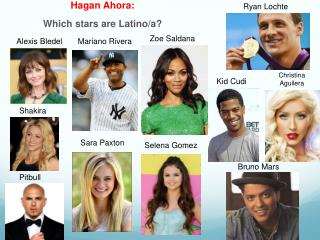 Hagan Ahora:  Which stars are Latino/a?