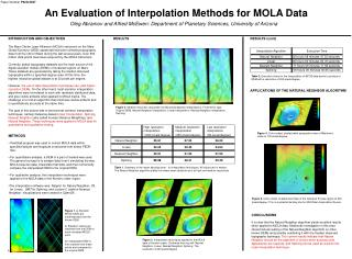 An Evaluation of Interpolation Methods for MOLA Data