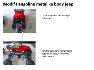 Modif Pangoline  metal  ke  body jee p