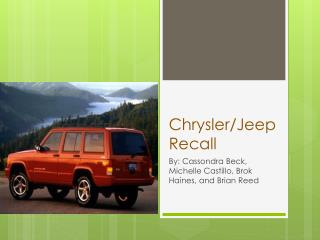 Chrysler/Jeep Recall