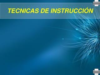 TECNICAS DE INSTRUCCI
