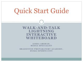 Quick Start Guide